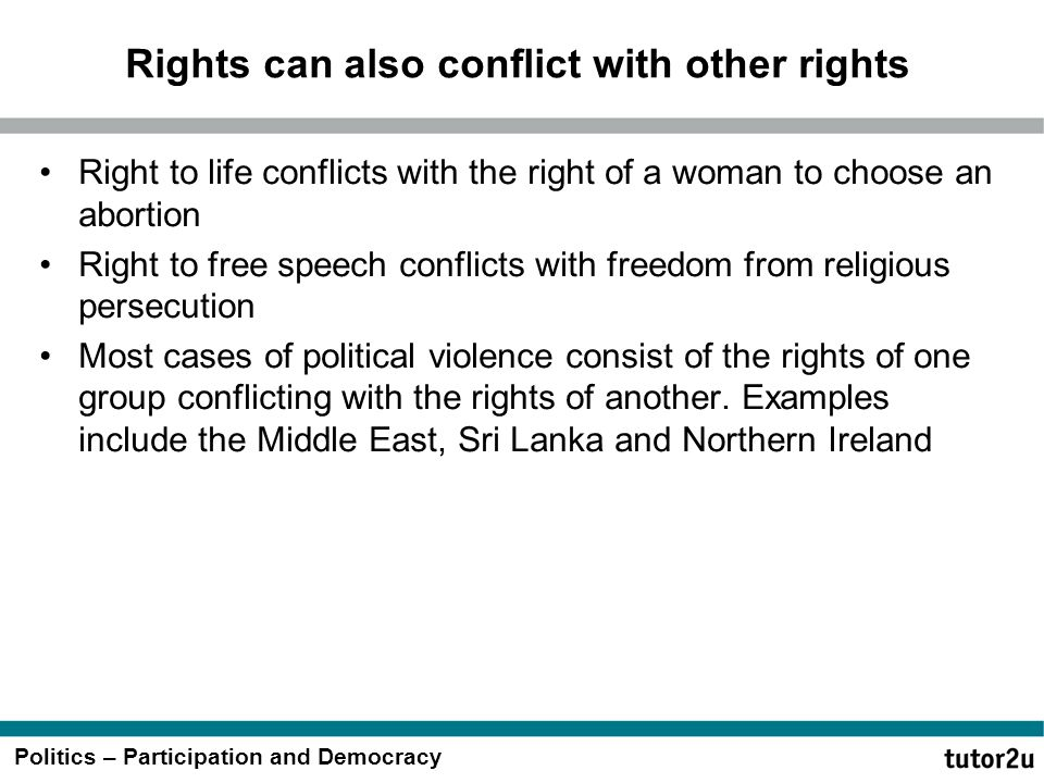 Rights can also conflict with other rights