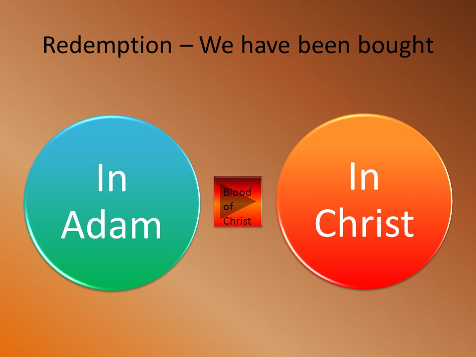 Redemption – We have been bought