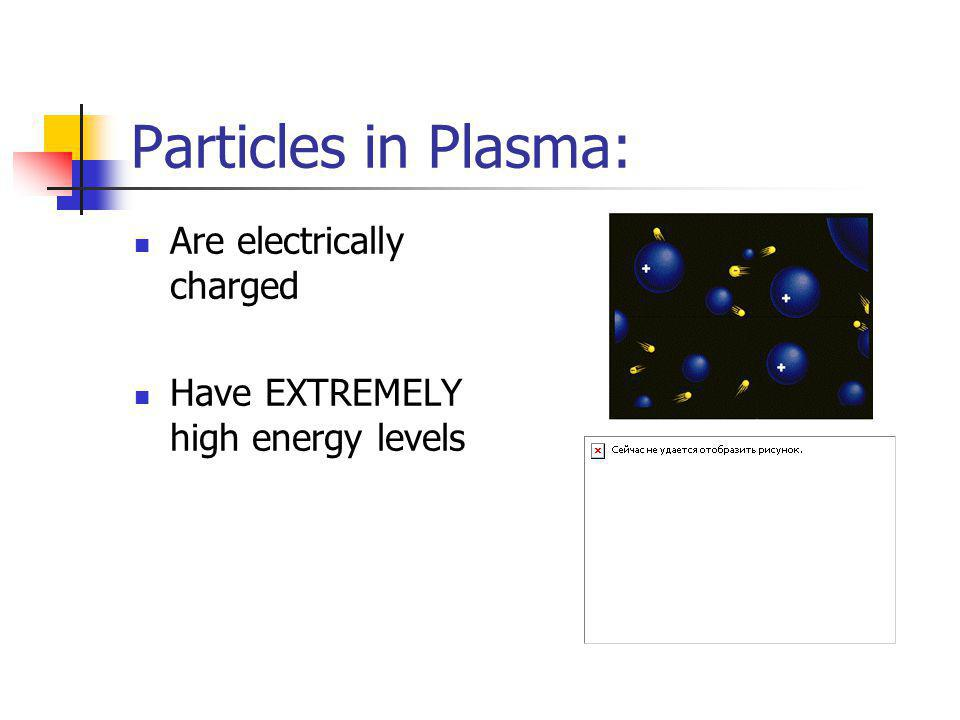 Particles in Plasma: Are electrically charged