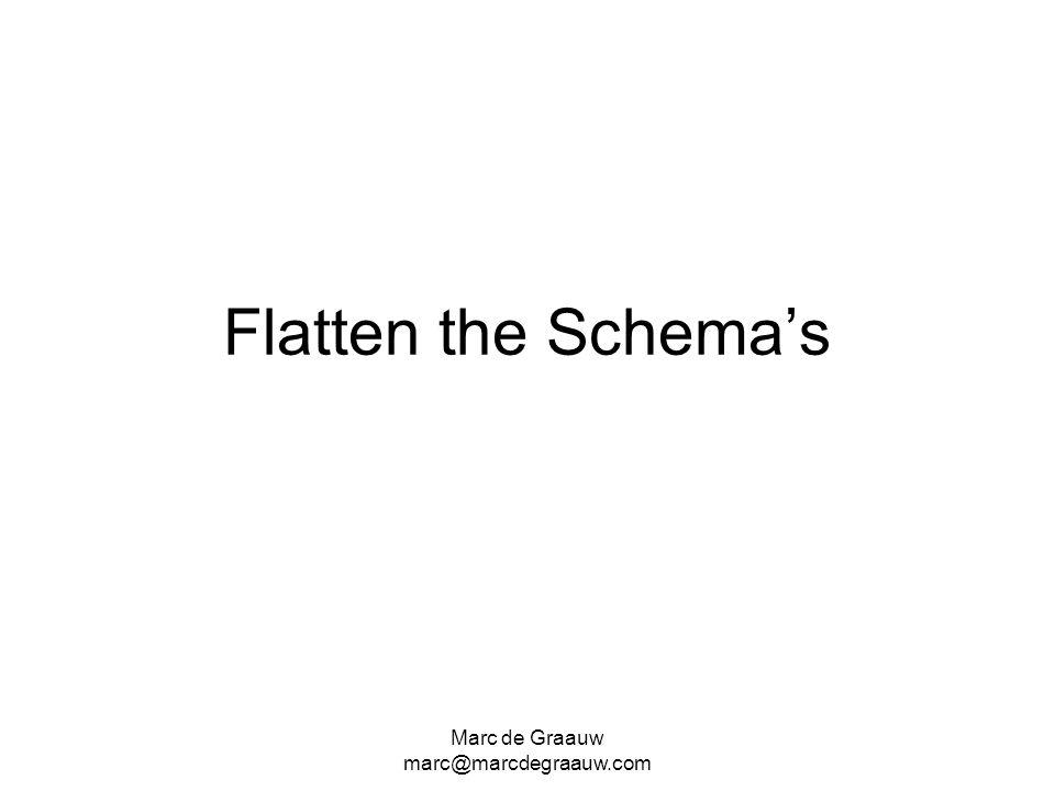 Flatten the Schema's Marc de Graauw marc@marcdegraauw.com
