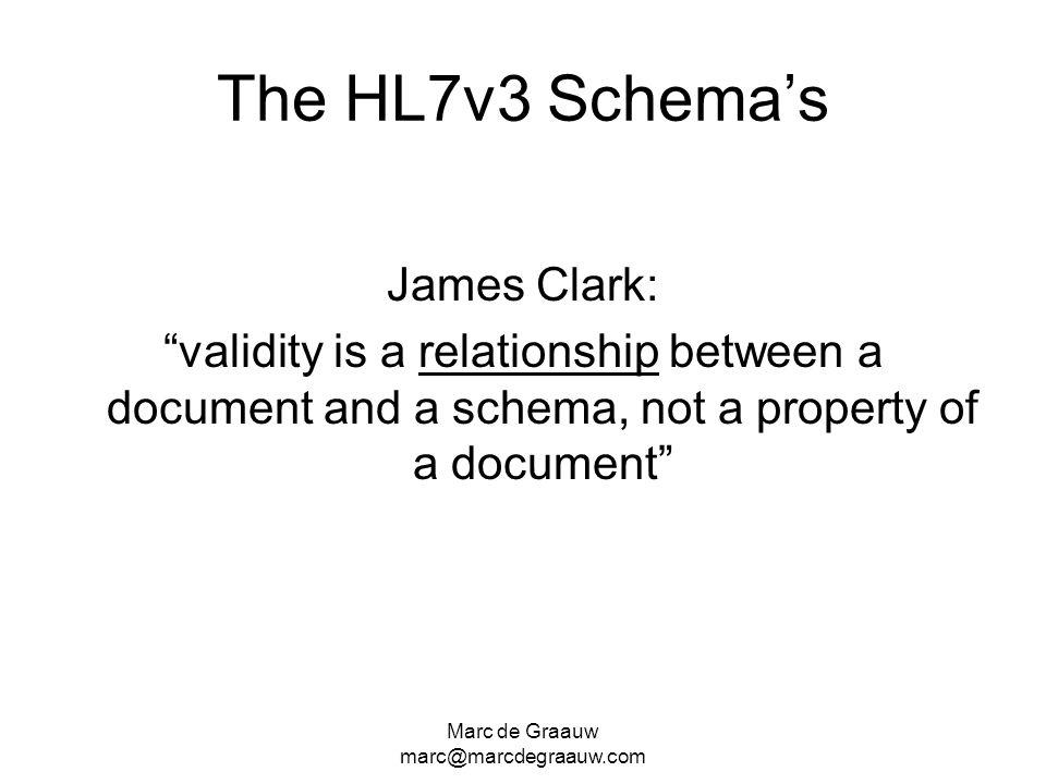 The HL7v3 Schema's James Clark:
