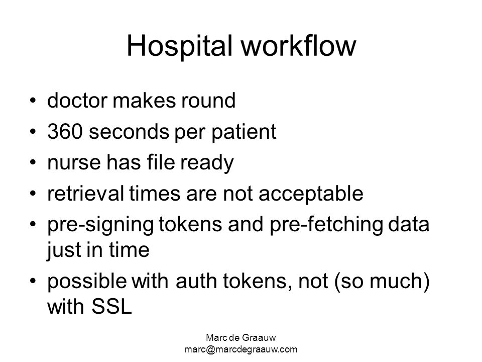 Hospital workflow doctor makes round 360 seconds per patient