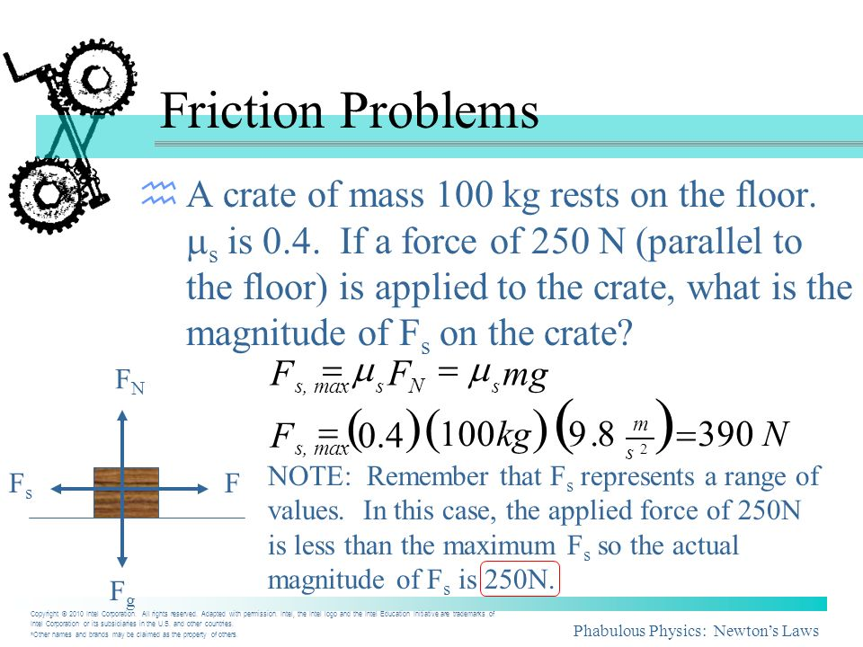 ( ) Friction Problems ( ) ( )