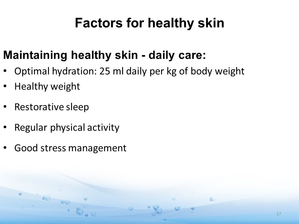 Factors for healthy skin