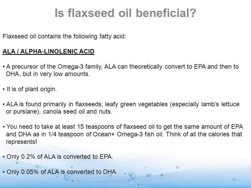 Is flaxseed oil beneficial