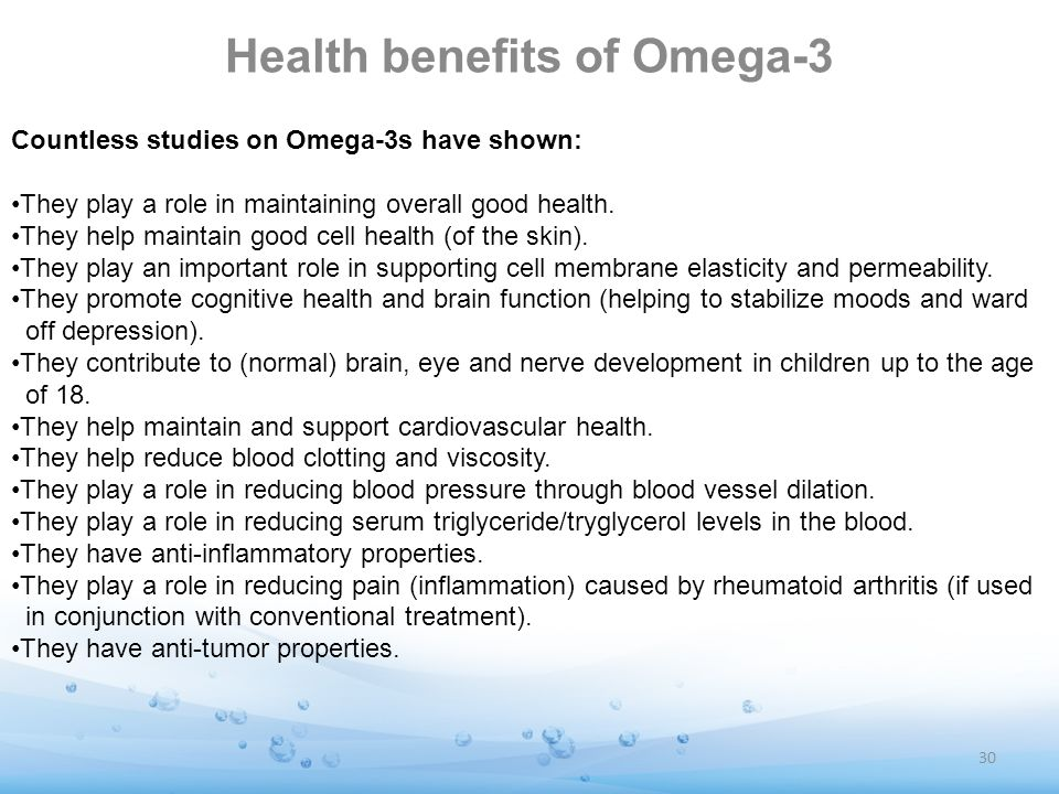 Health benefits of Omega-3