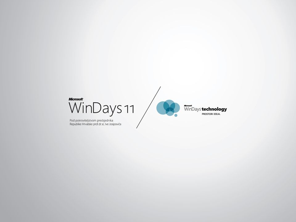 Presentation held by Tomislav Piasevoli at the local WinDays 11 conference, Rovinj, Croatia. Monday, 16:10-17:00, Room 6.
