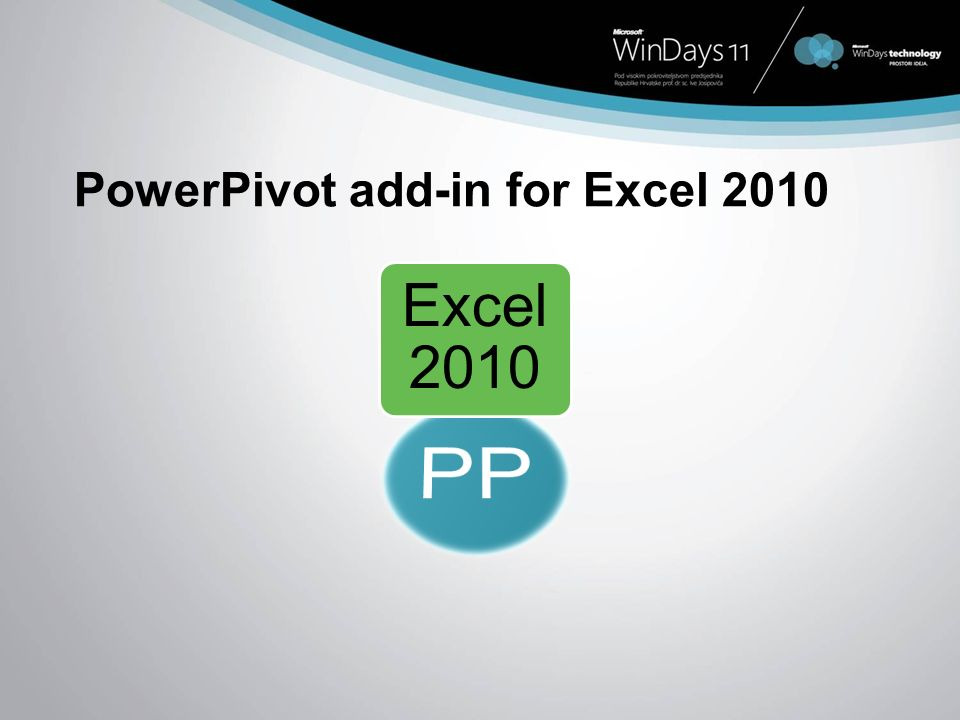 PowerPivot add-in for Excel 2010