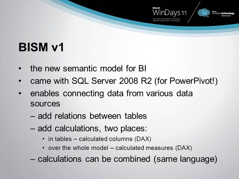 BISM v1 the new semantic model for BI