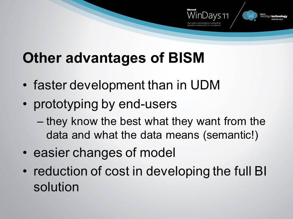Other advantages of BISM