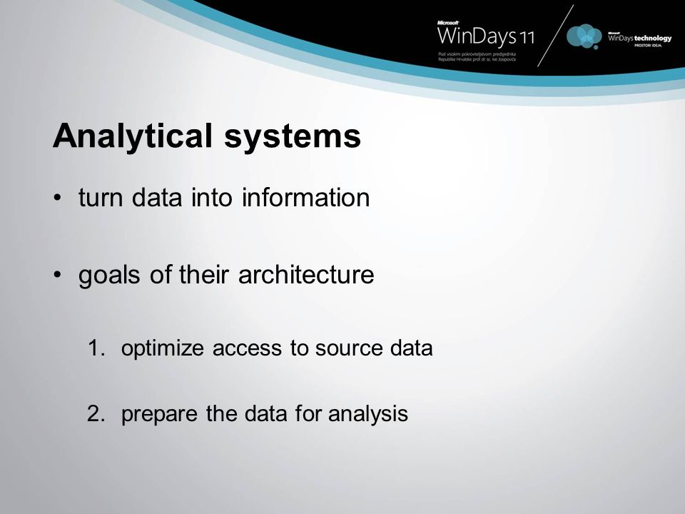 Analytical systems turn data into information