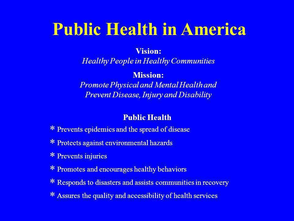Public Health in America