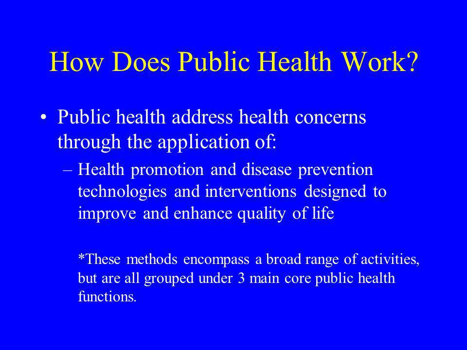 How Does Public Health Work