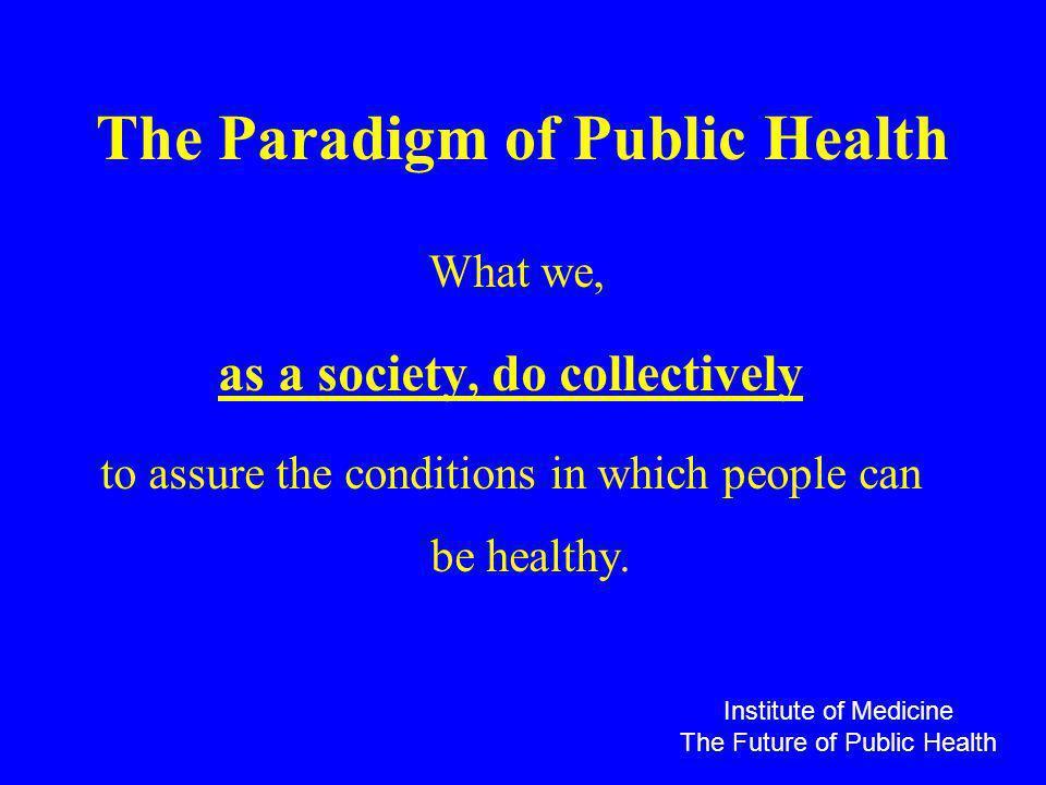 The Paradigm of Public Health