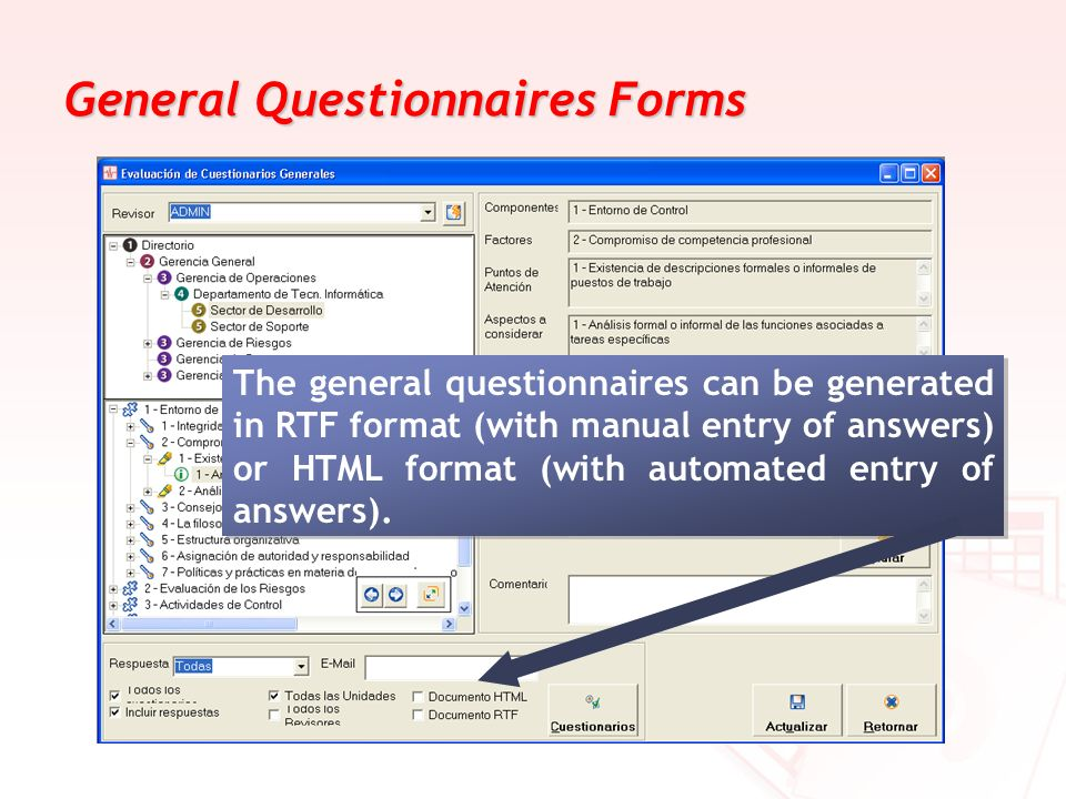 General Questionnaires Forms