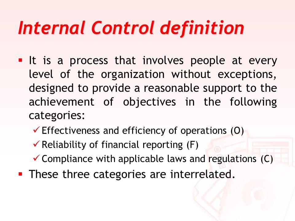 Internal Control definition