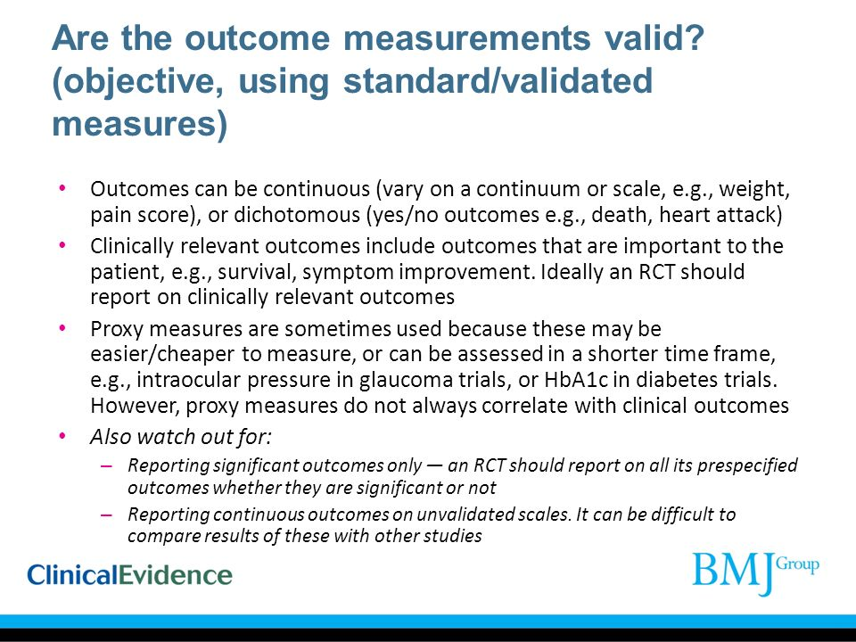 Are the outcome measurements valid