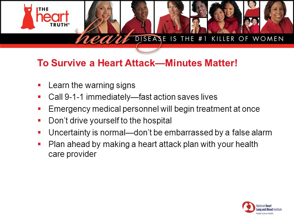 To Survive a Heart Attack—Minutes Matter!