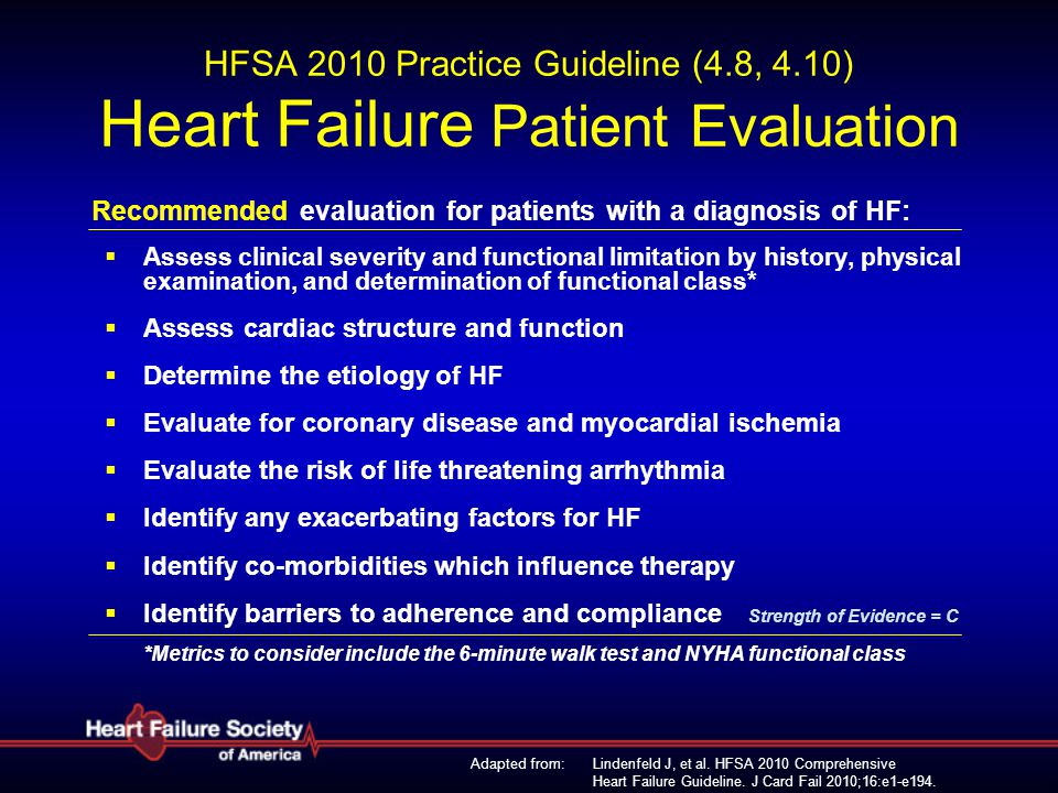 HFSA 2010 Practice Guideline (4. 8, 4