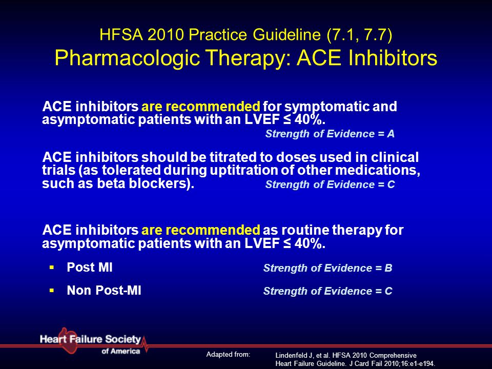 HFSA 2010 Practice Guideline (7. 1, 7