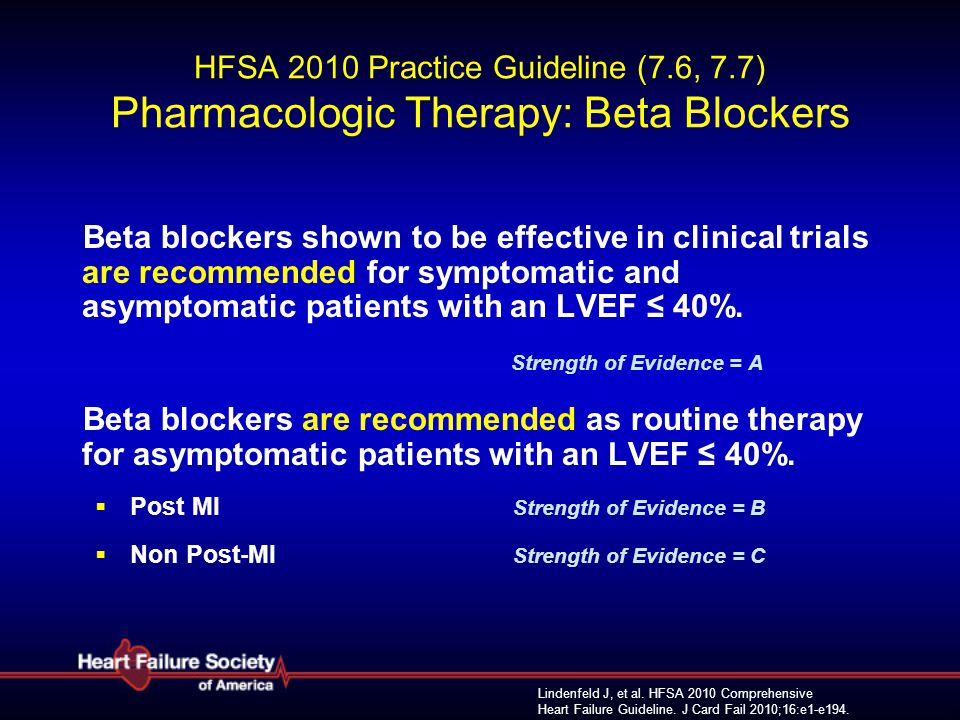 HFSA 2010 Practice Guideline (7. 6, 7