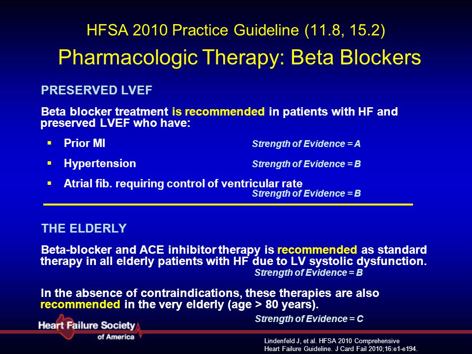 HFSA 2010 Practice Guideline (11. 8, 15