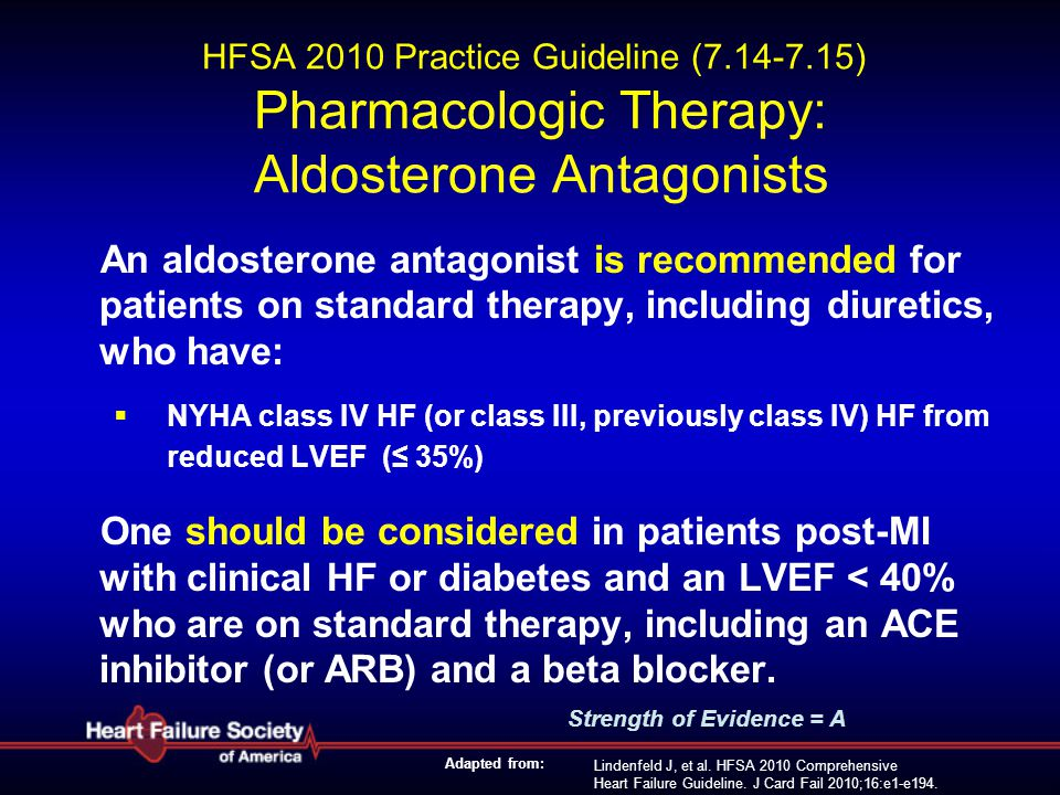 HFSA 2010 Practice Guideline (7. 14-7