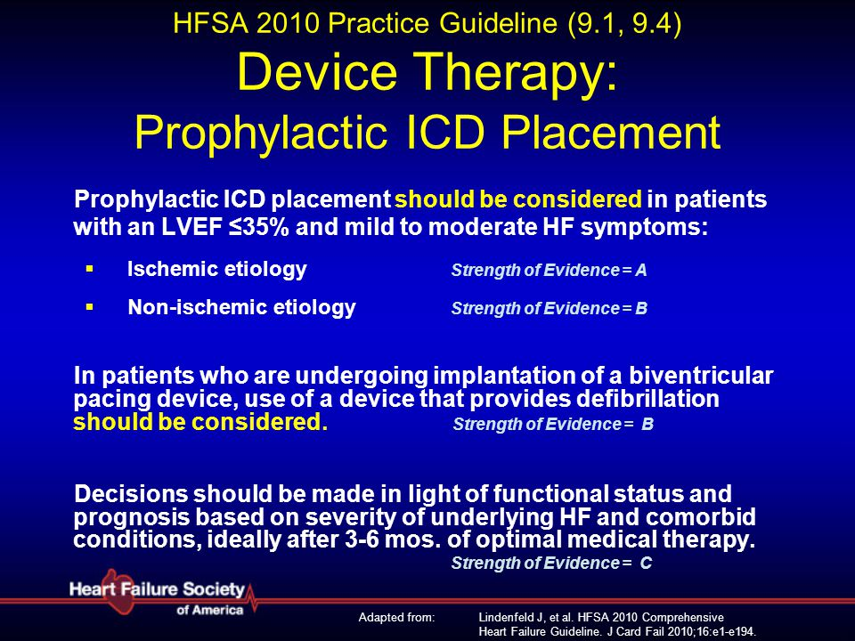 HFSA 2010 Practice Guideline (9. 1, 9