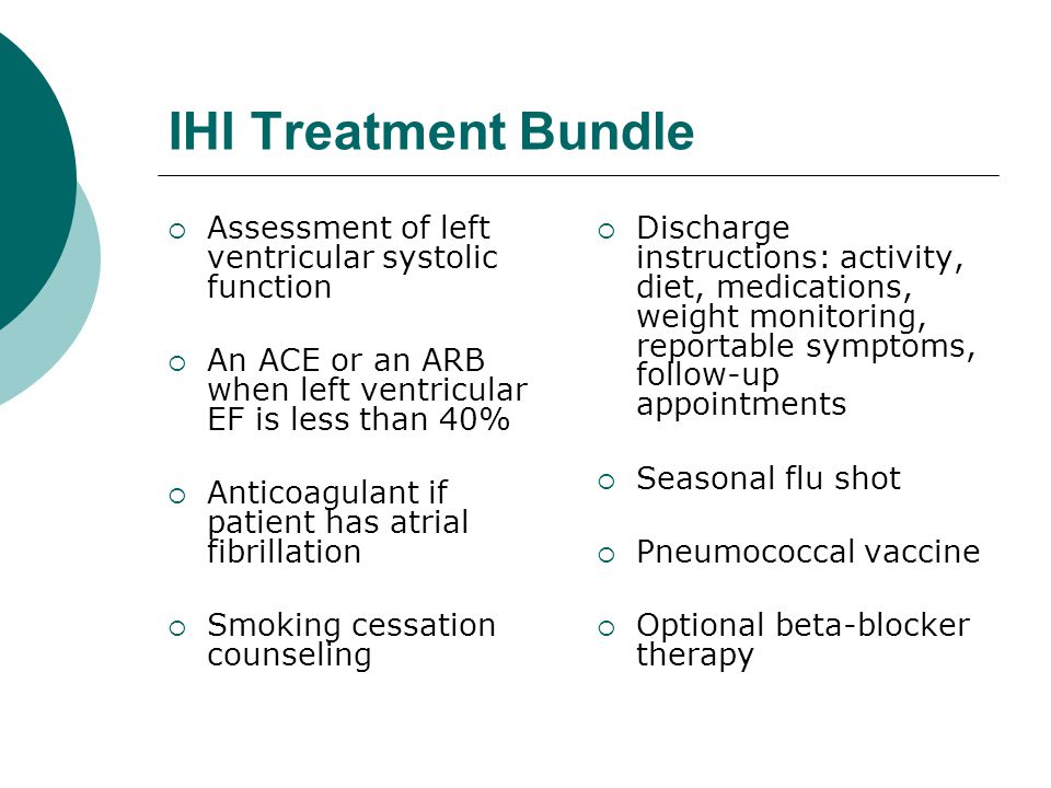 IHI Treatment Bundle Assessment of left ventricular systolic function
