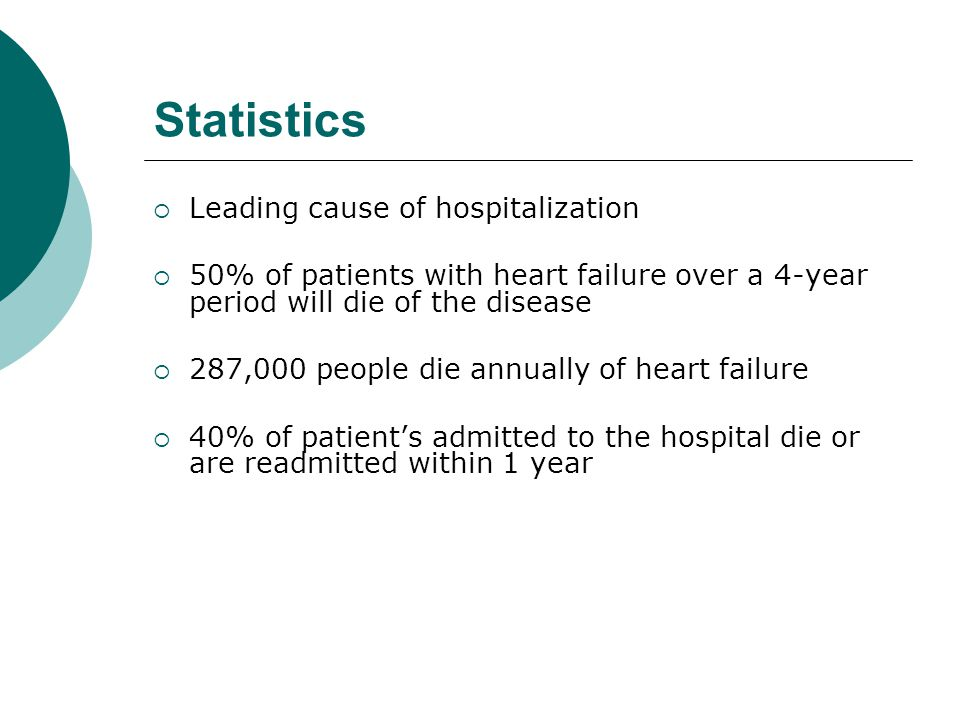 Statistics Leading cause of hospitalization