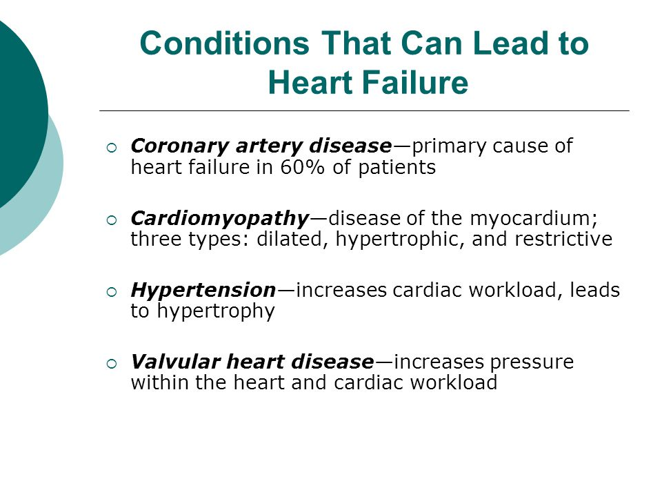 Conditions That Can Lead to Heart Failure