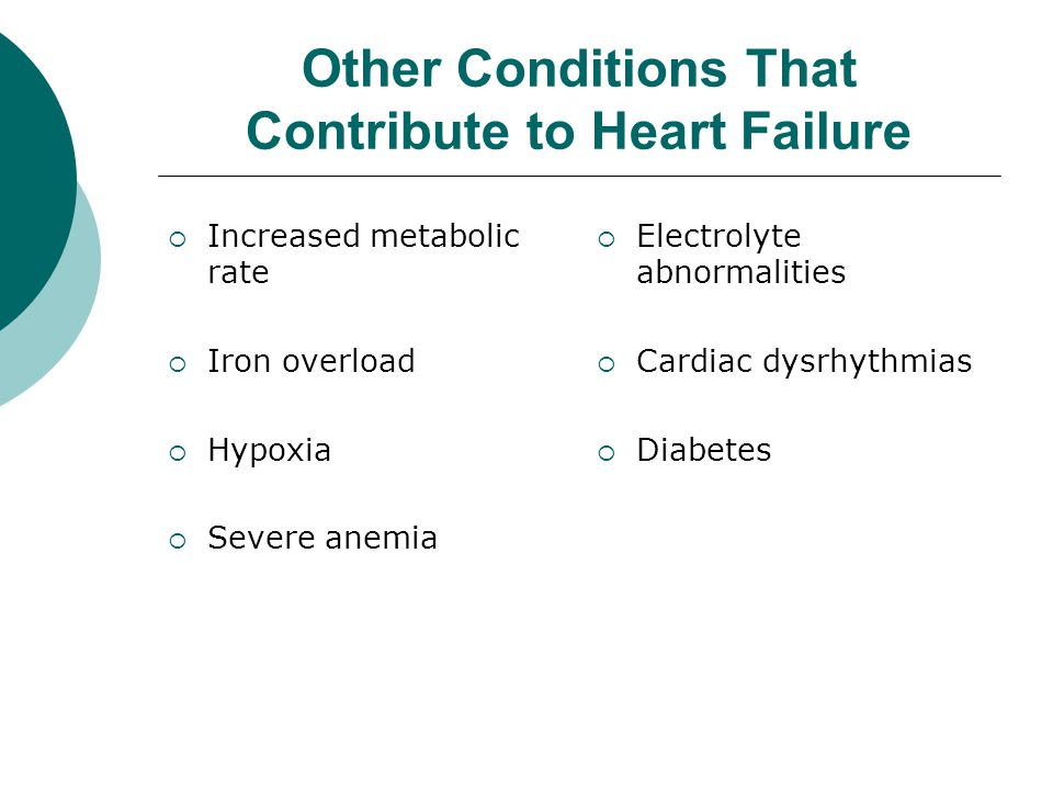 Other Conditions That Contribute to Heart Failure