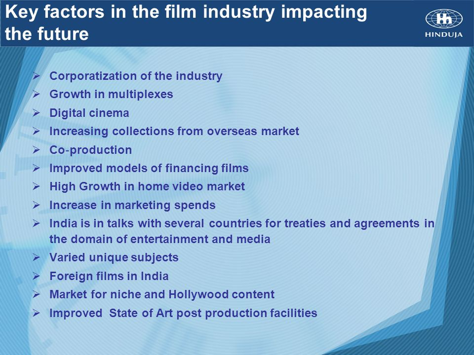 Key factors in the film industry impacting the future