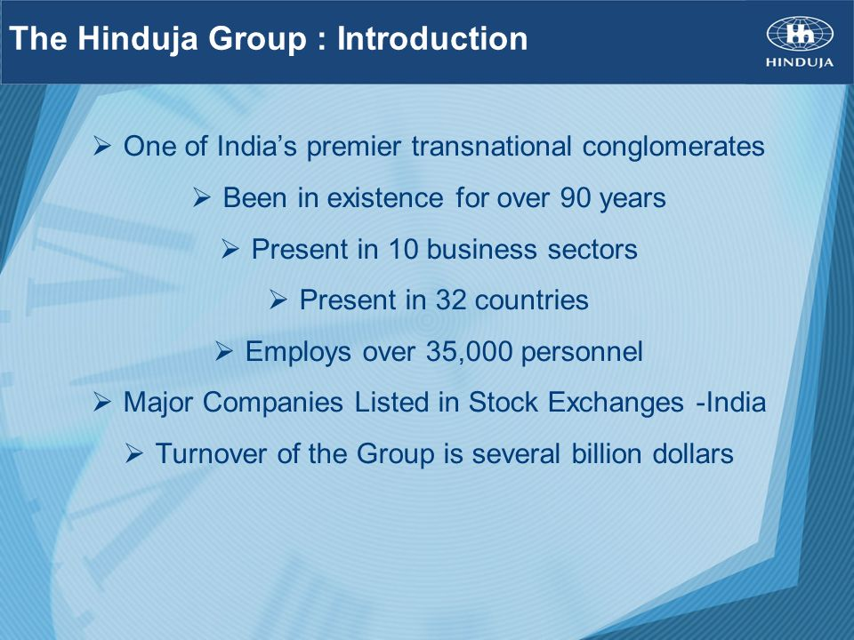 The Hinduja Group : Introduction