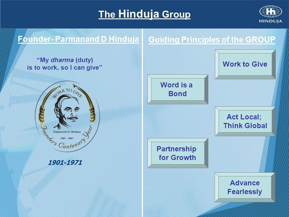 Guiding Principles of the GROUP