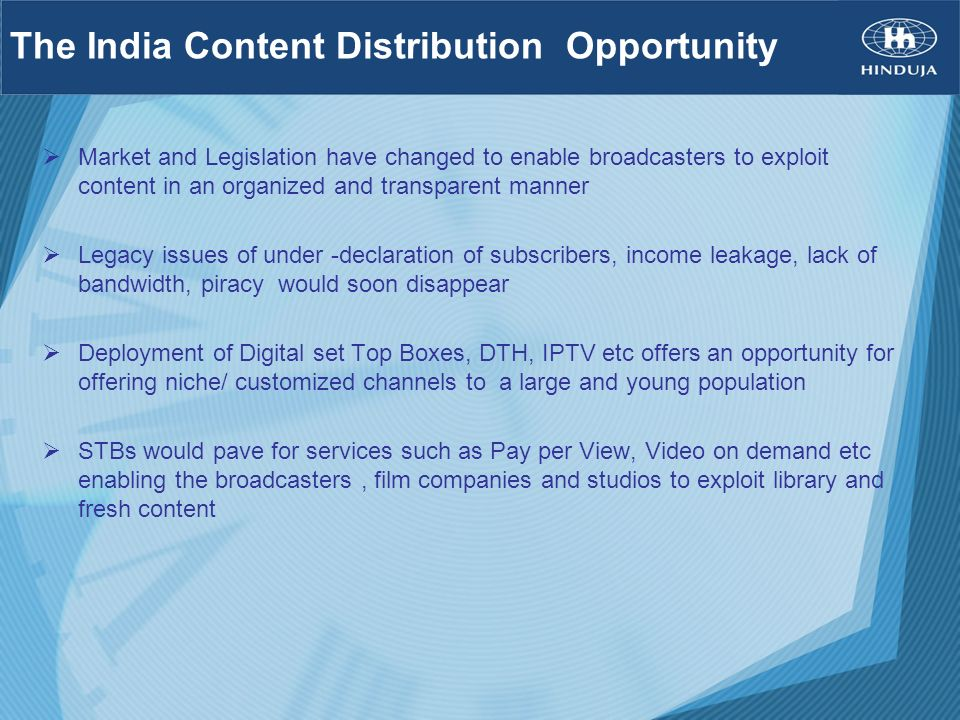 The India Content Distribution Opportunity
