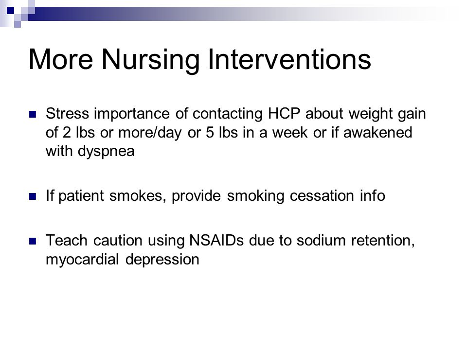 More Nursing Interventions