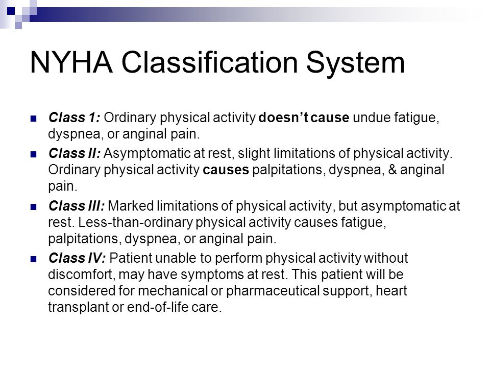 NYHA Classification System