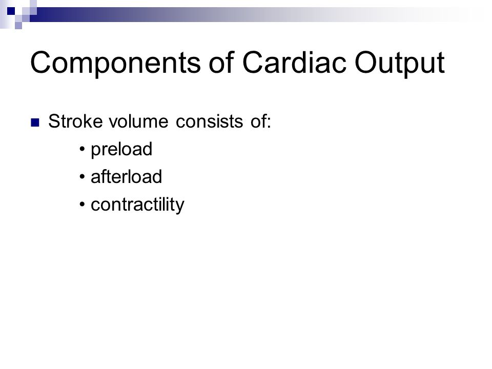 Components of Cardiac Output