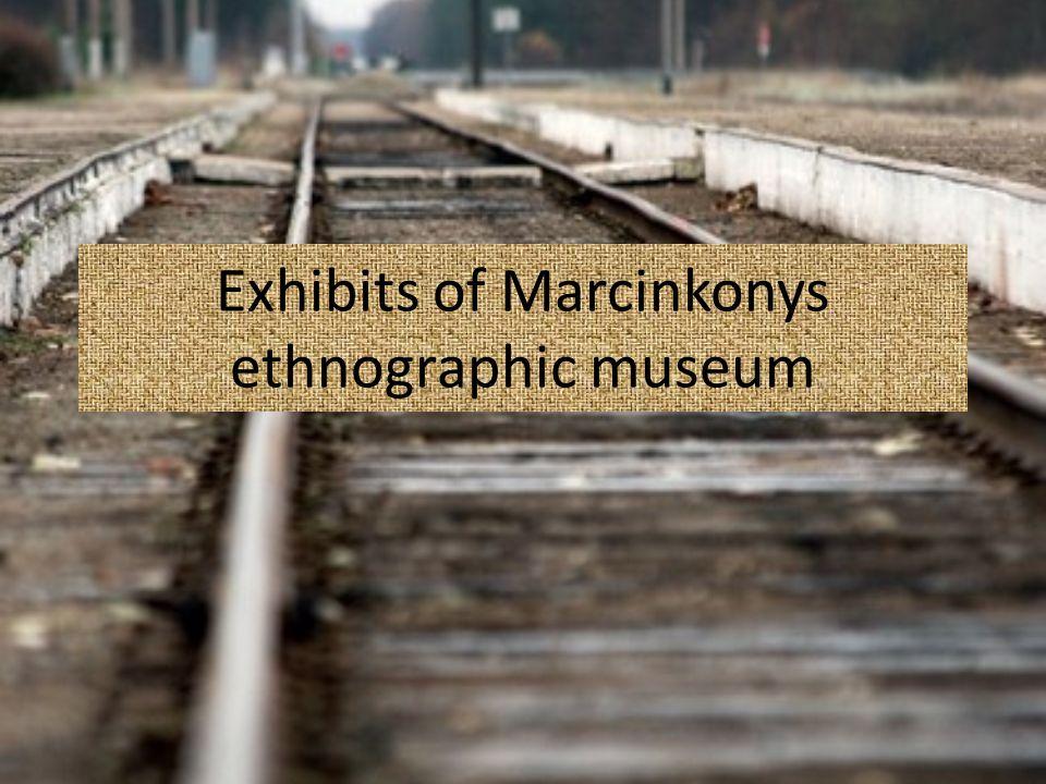 Exhibits of Marcinkonys ethnographic museum