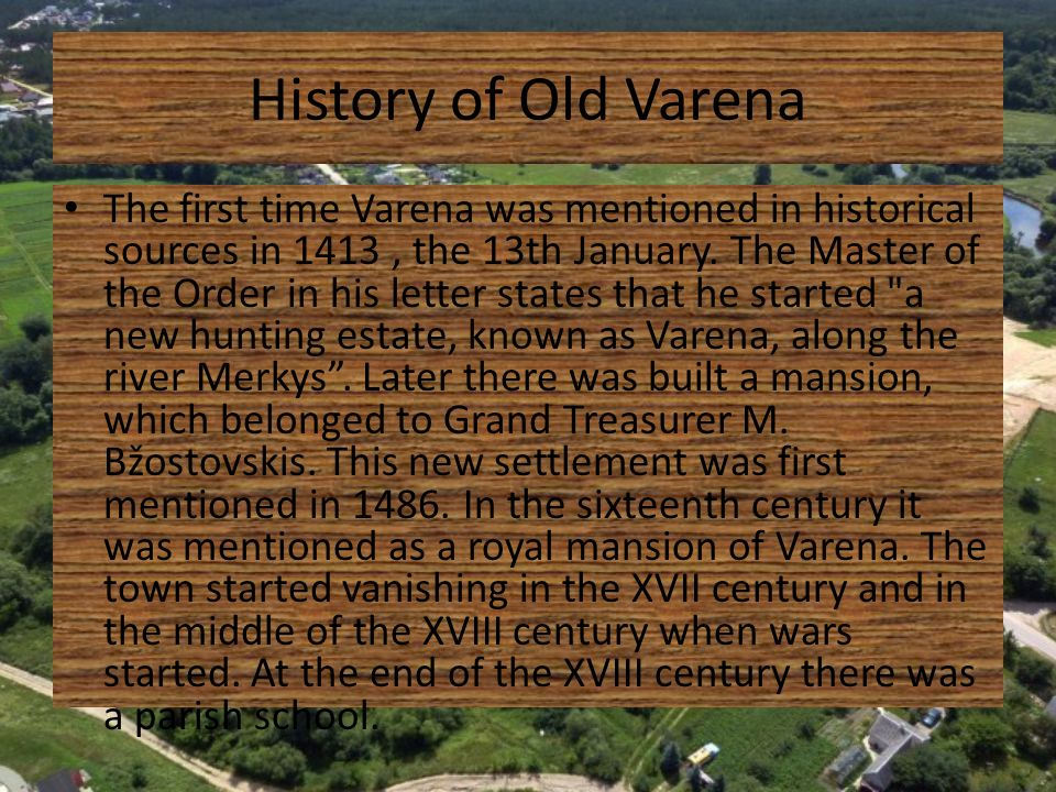 History of Old Varena