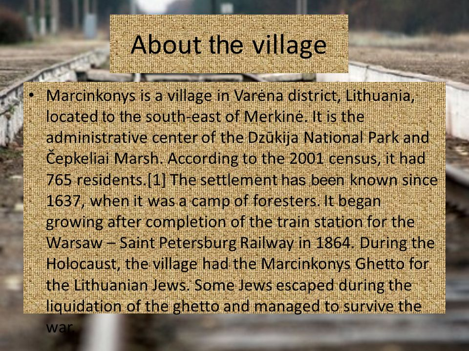 About the village