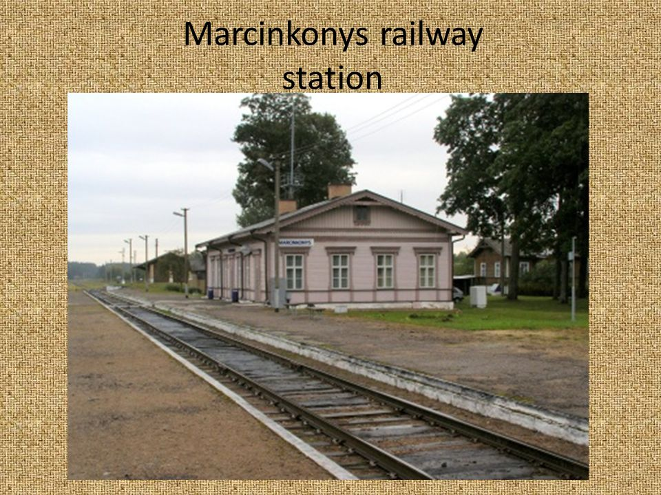 Marcinkonys railway station