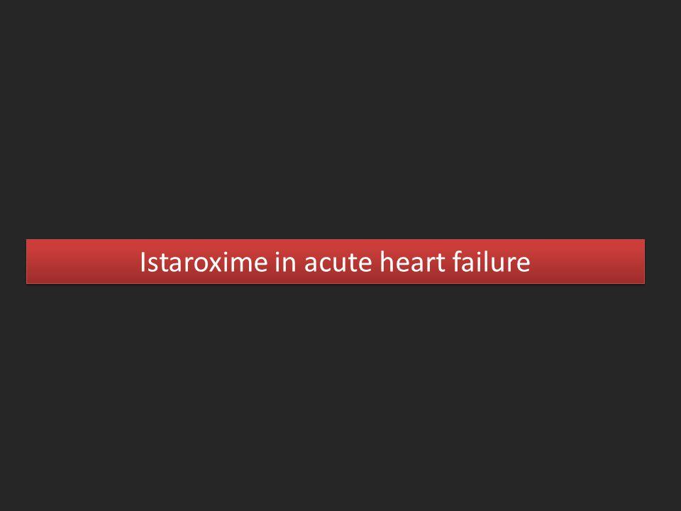 Istaroxime in acute heart failure