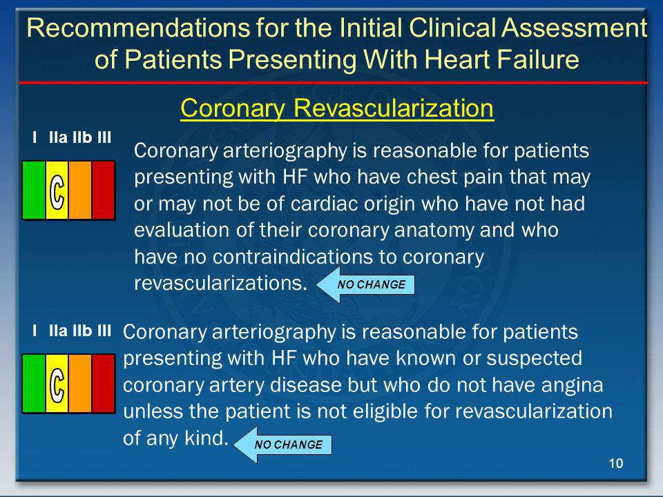 Recommendations for the Initial Clinical Assessment of Patients Presenting With Heart Failure