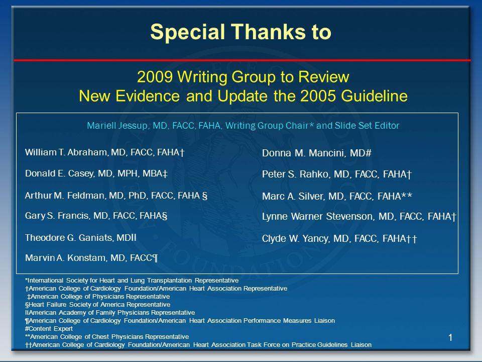 2005 Guideline Writing Committee Members
