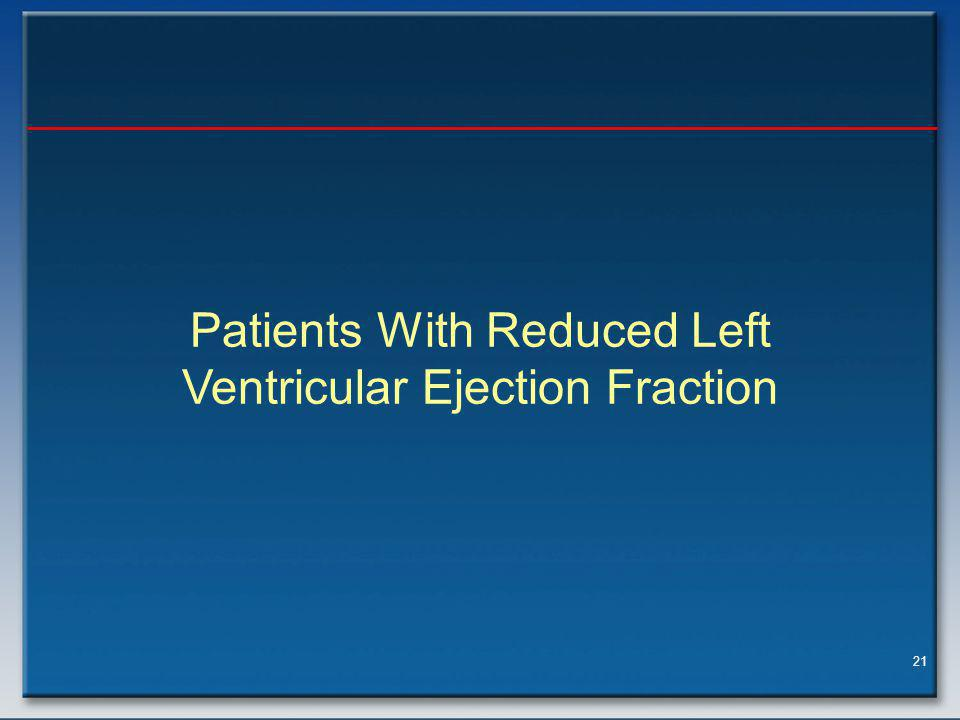 Patients With Reduced Left Ventricular Ejection Fraction