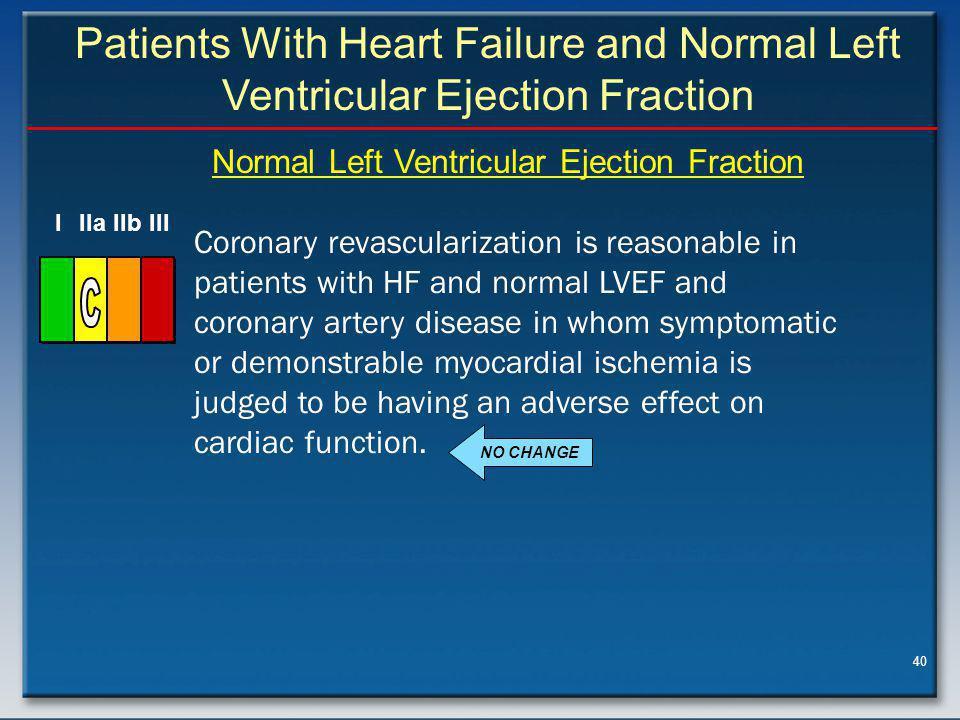 Normal Left Ventricular Ejection Fraction