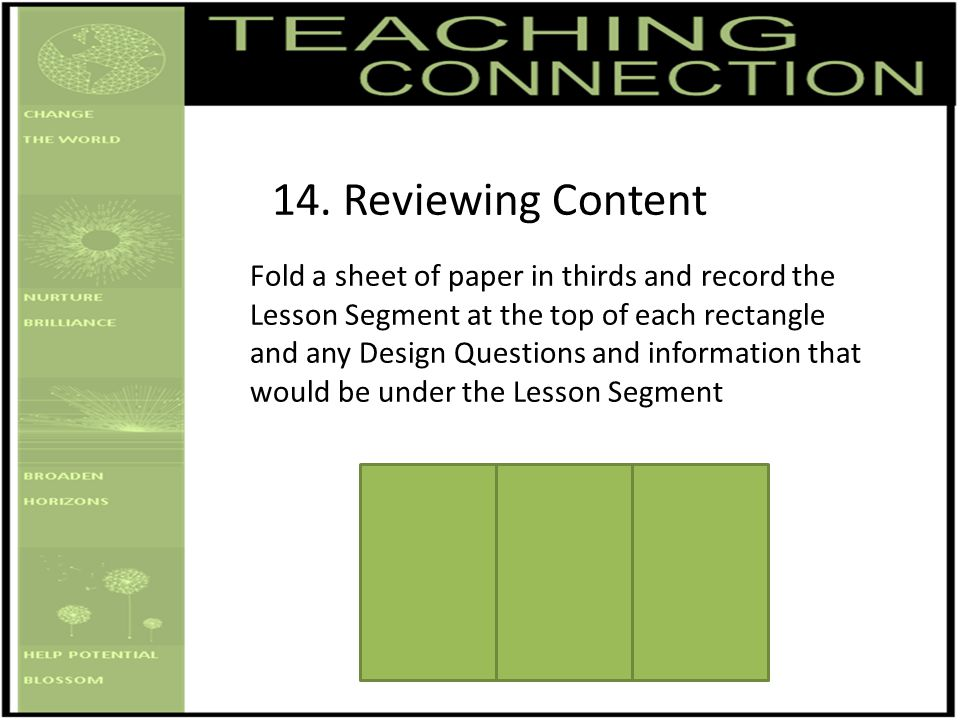 14. Reviewing Content