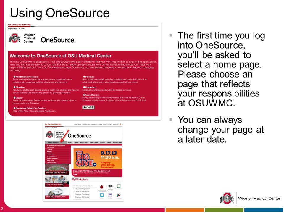 Using OneSource